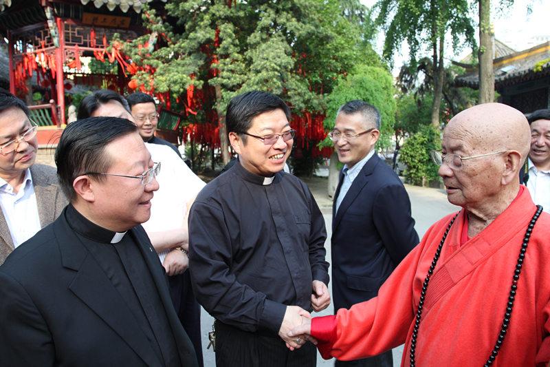中国天主教主教团团长马英林主教拜访我会会长