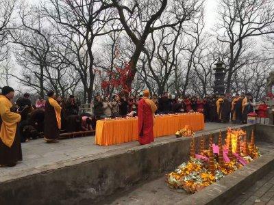 西庐寺举行迎新春斋天祈福法会