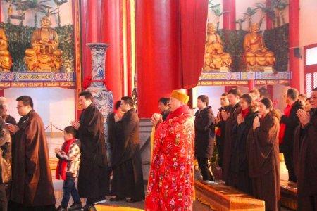 喜迎新春,开福寺举行祈福法会