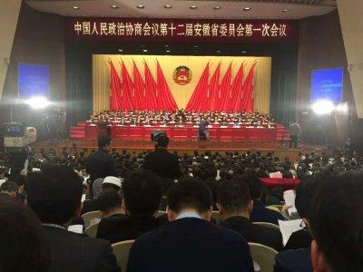圆藏大和尚出席安徽省政协十二届一次会议