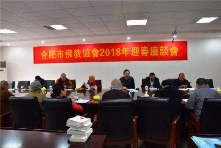 合肥市佛教协会召开2018年迎春座谈会!