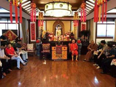 肥东县政协开展专题调研,并参观明教寺